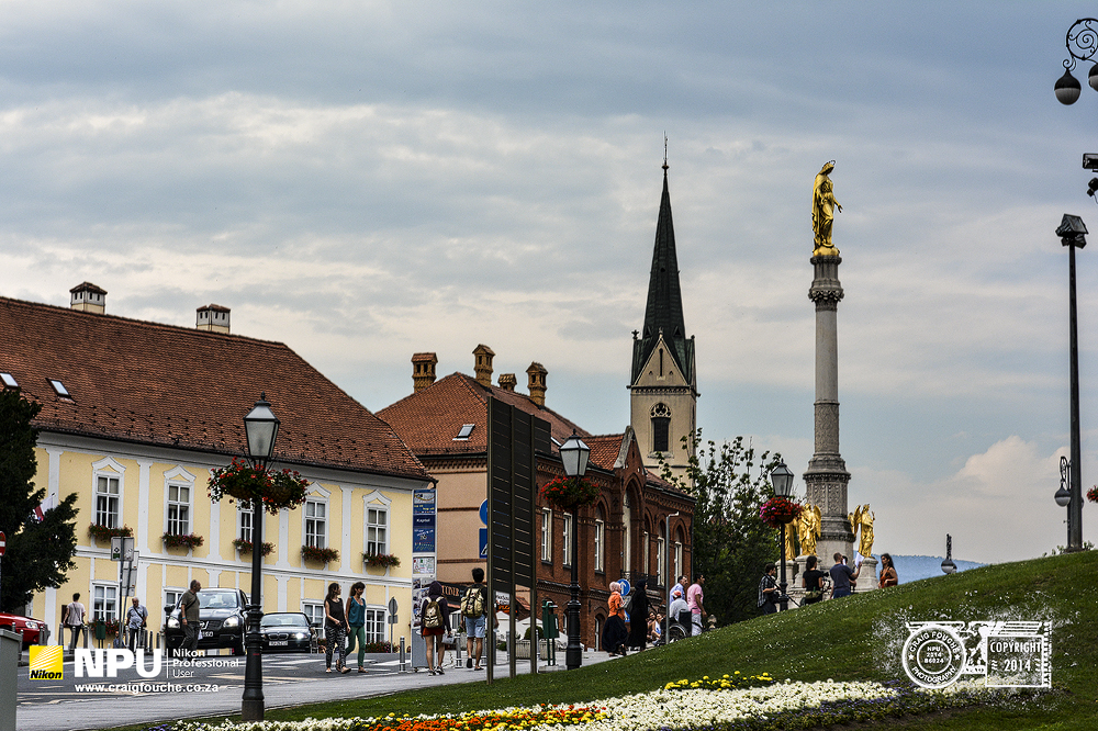 Mary Column in front of the Zagrebačka Katedrala, Zagreb, Croatia