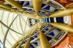 The Atrium of the Burj al Arab - The World's Best 7 Star Hotel, Dubai, UAE