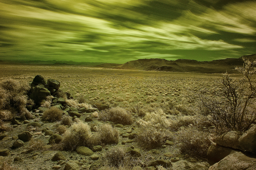 Infrared Landscape - Tankwa Karoo, South Africa - Hoya R72 Filter Infrared