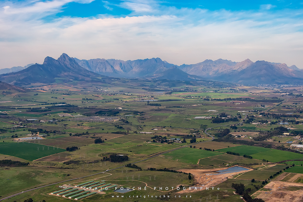 Aerial Photography, Stellenbosch Surrounds, South-Africa