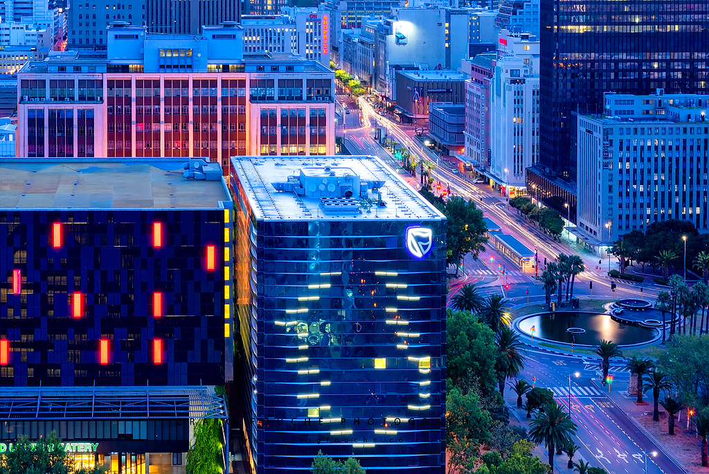Night Cityscape Of Cape Town CBD From Media24 Building, Cape Town, South-Africa