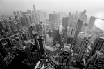 Cityscape Photography - Dubai Marina From Cayan Tower, Dubai, UAE - Fujifilm Acros 100