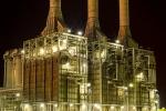 Kaz Gas Plant at Night, Basra, Iraq