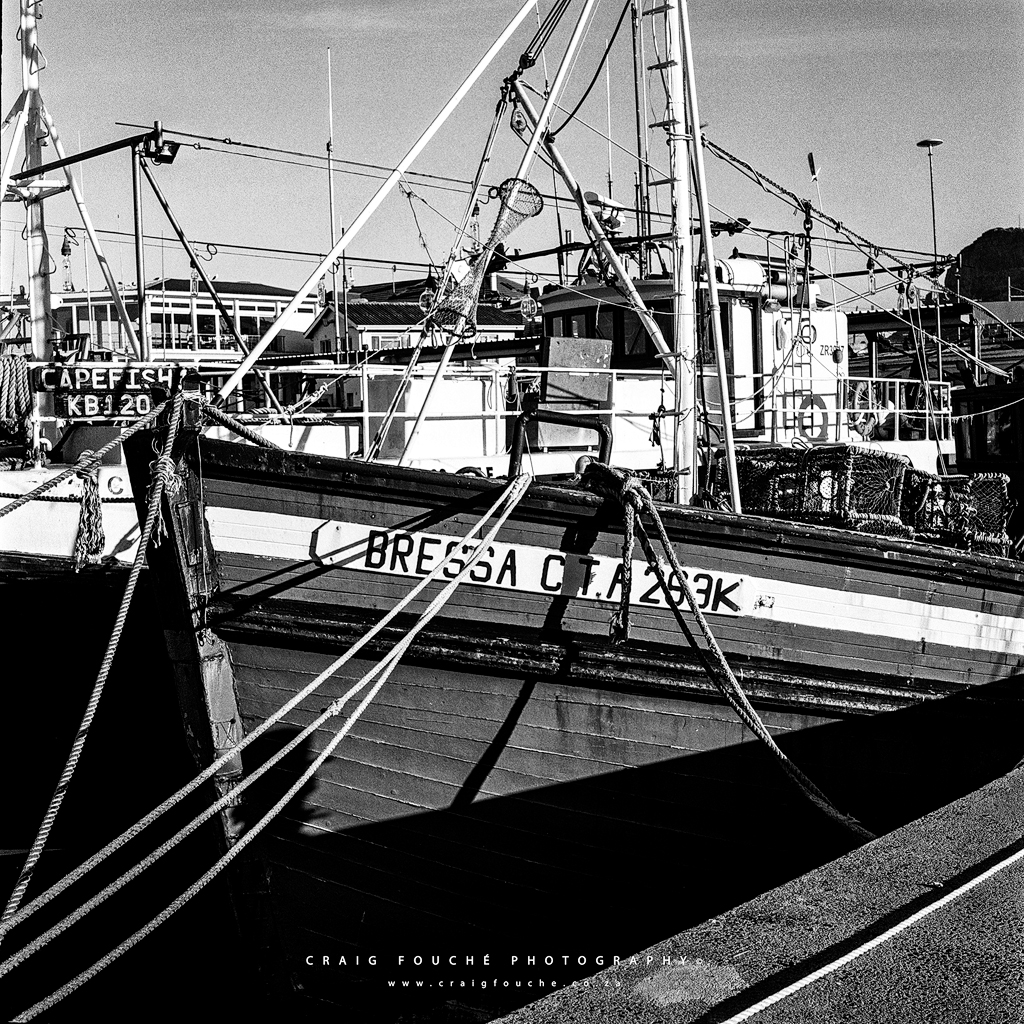 Fishing Boats, Kalk Bay Harbour, Cape Town, South-Africa - Kodak Tri-X 400 / 400TX