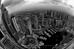 Fisheye View of Dubai Marina, Dubai, UAE