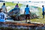 Cleaning the Draft, Nungwi, Zanzibar, Tanzania