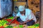 Spice Seller, Darajani Market, Stone Town, Zanzibar, Tanzania
